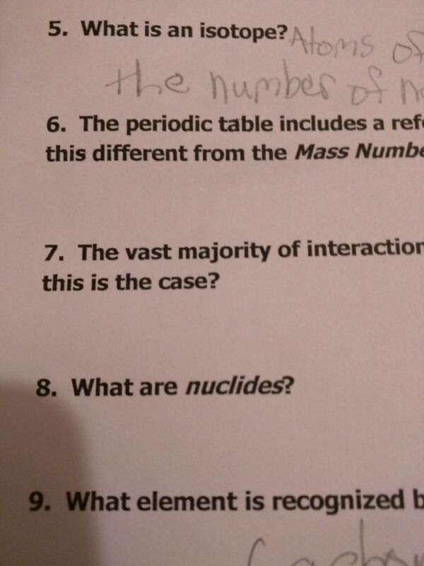 What are nuclides?