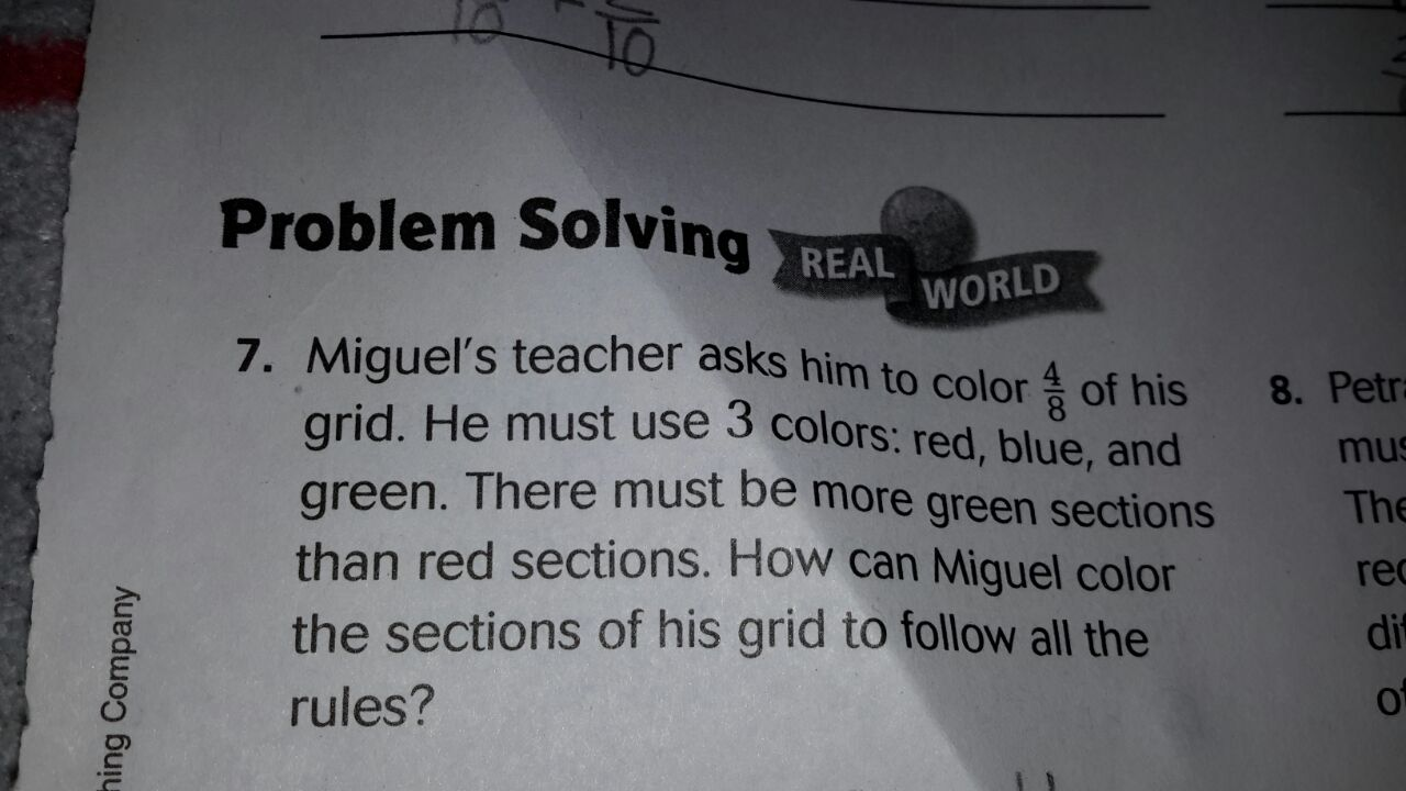 Miguel teacher asked him to color for taste of his