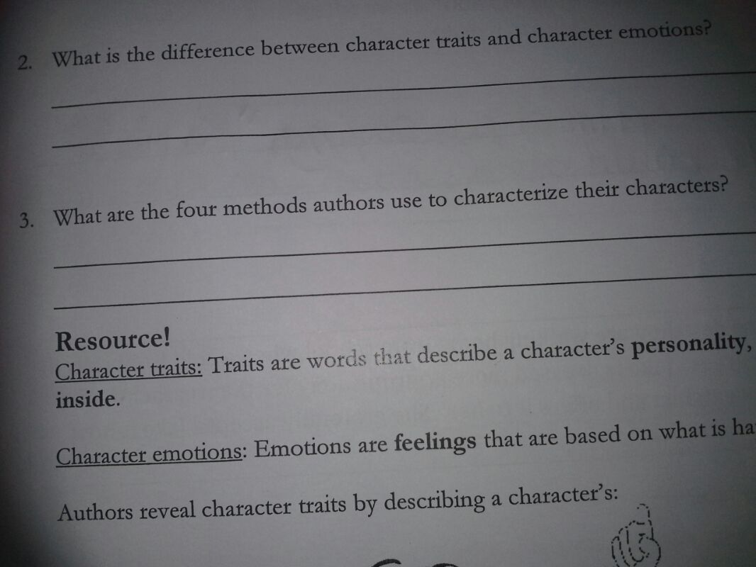 What is the difference between character traits an