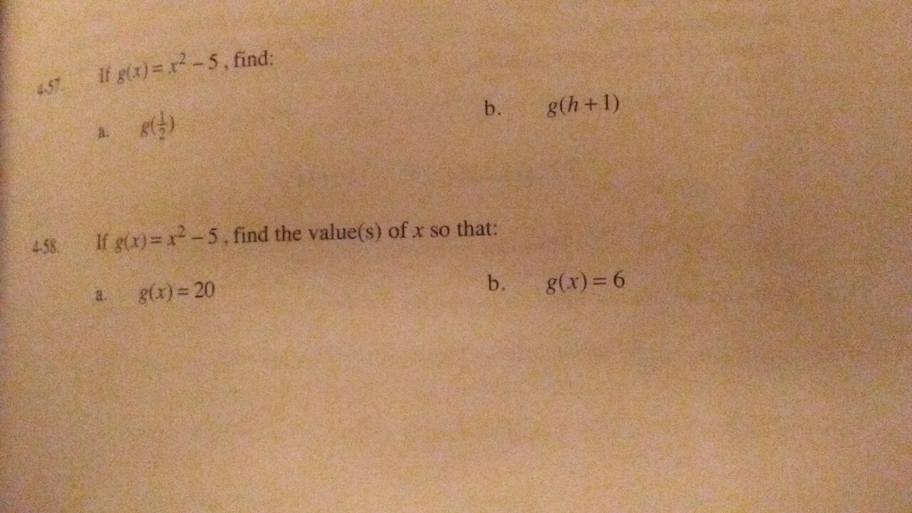 Find the value of xG(x)=20