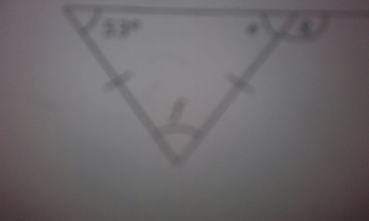 What do the two lines mean marked on the triangle?