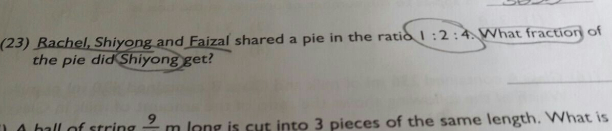 How do you solve question 23?